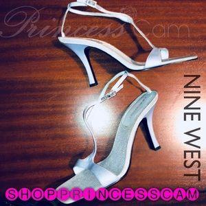 Nine West Light Blue Sparkly Pale Blue Heel 7.5